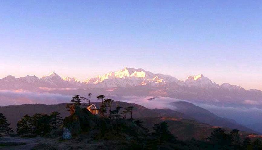 Mt. Kanchenjunga from Tinkitam