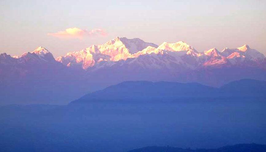 A View Mt. Kanchenjunga from Ravangla