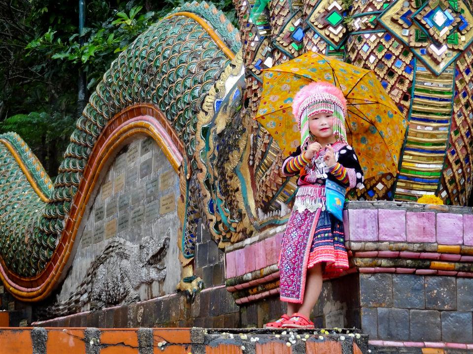 Little girl outside Chiang Mai