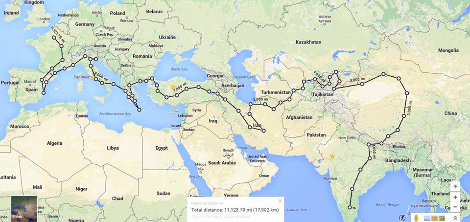 Bangalore To Paris By Road Bangalore India To Paris Road Trip Tripoto