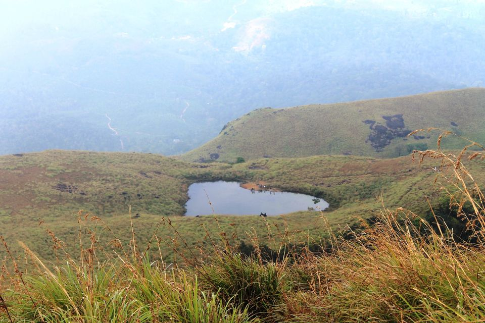 Heart lake in chembra a trek to conquer propose your for L shaped lake