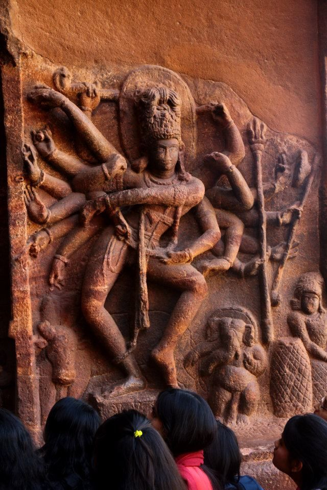 Photos of Nataraja figure, Badami caves by Arundhati Sridhar