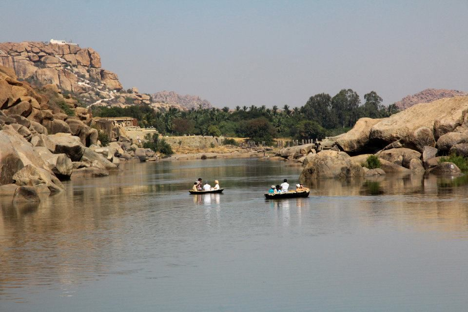Photos of Boating on the Tungabhadra by Arundhati Sridhar