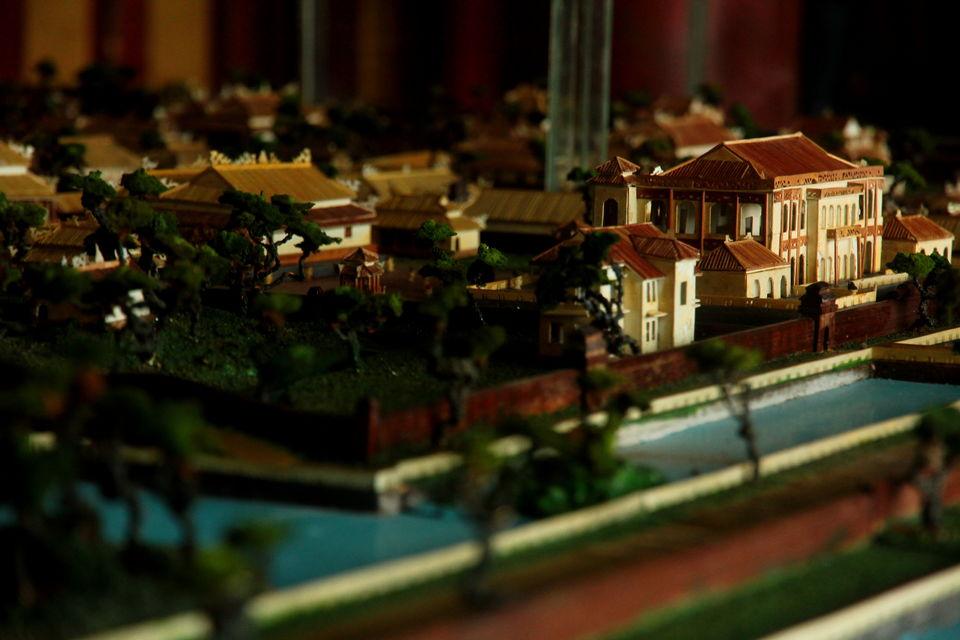 A miniature model of the Citadel at Hue