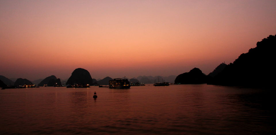 Sunset on Halong