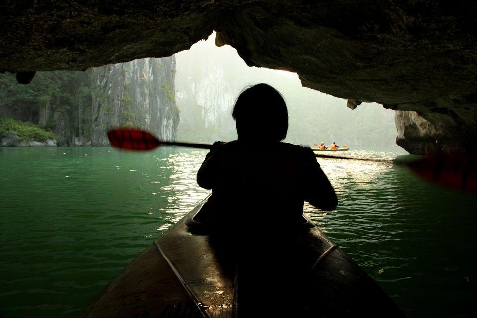 Photos of Kayaking in Halong by Arundhati Sridhar