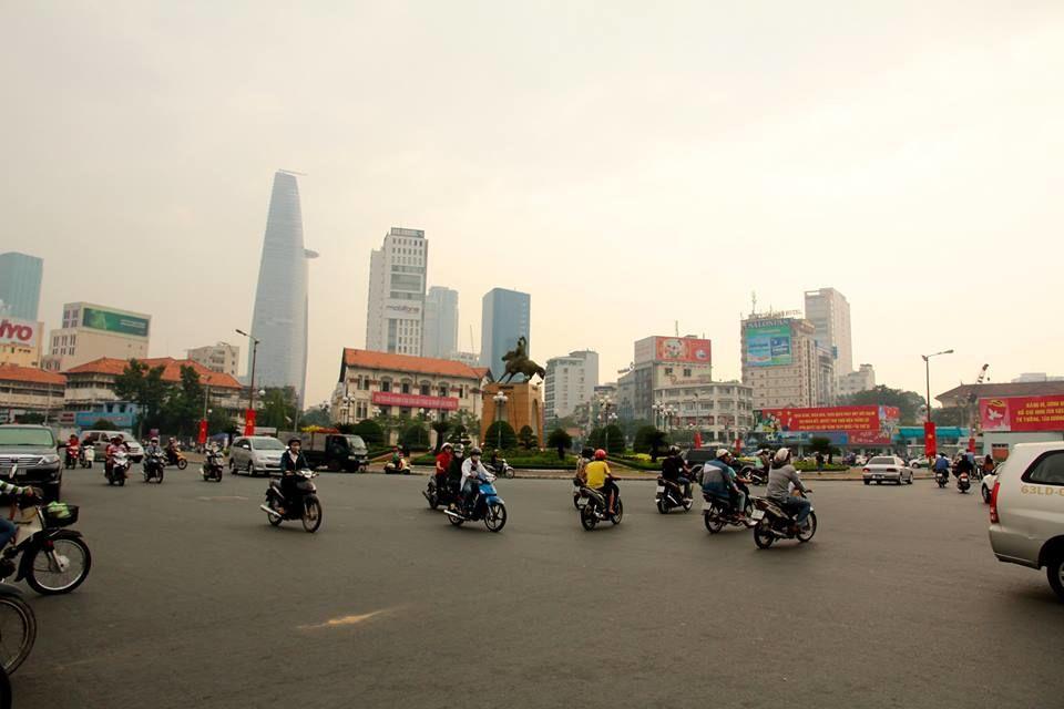 The chaotic streets of Saigon