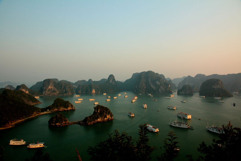 Halong Bay from atop Ti Top H