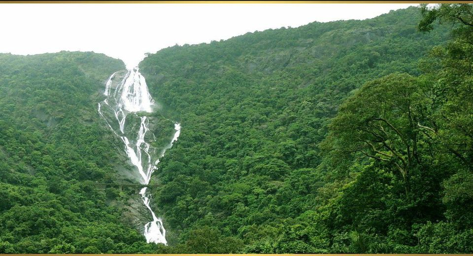Goa Train Waterfall Dudhsagar Waterfalls Goa