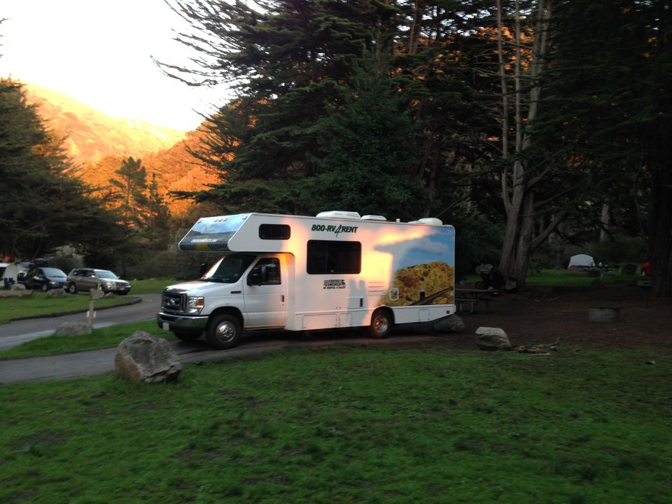 Map of RV camping in C...