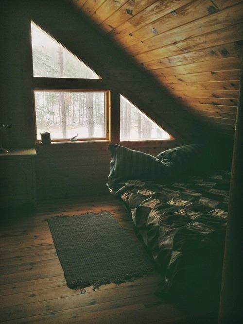 I'd love to have a small cabin in the woods...!