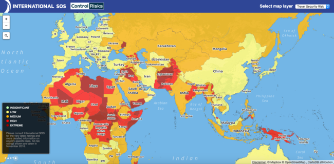 This New Map Reveals World's Most Dangerous Countries And India's Ranking Will Shock You