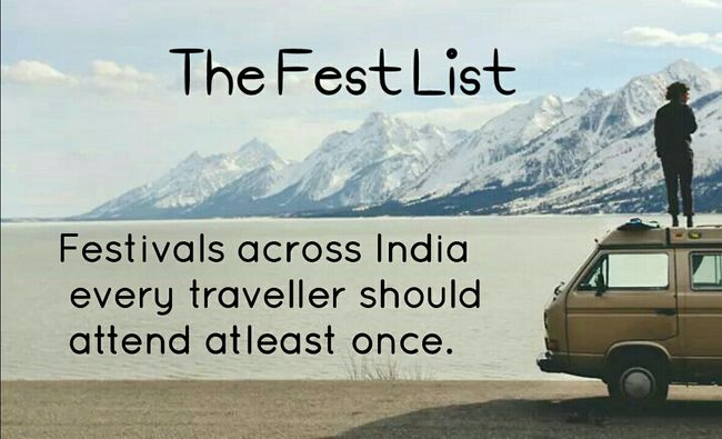 Must attend festivals for the traveller in you.