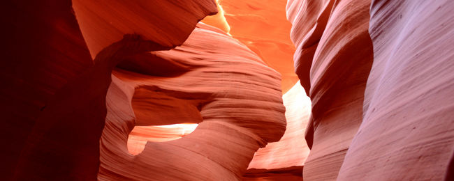 Nature's work of art at Antelope Canyons