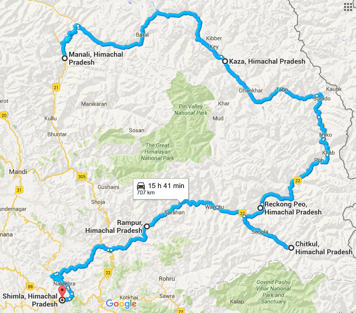 Manali India Map.10 Ultimate Road Trips That Almost Take You Through Every State Of