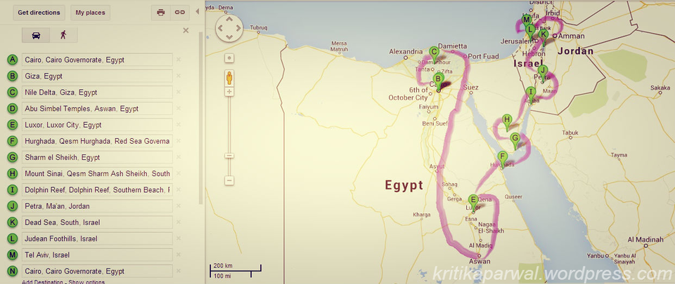 The Mystic Lands Of Egypt Jordan Israel By Kritika Parwal Tripoto - Map of egypt jordan and israel