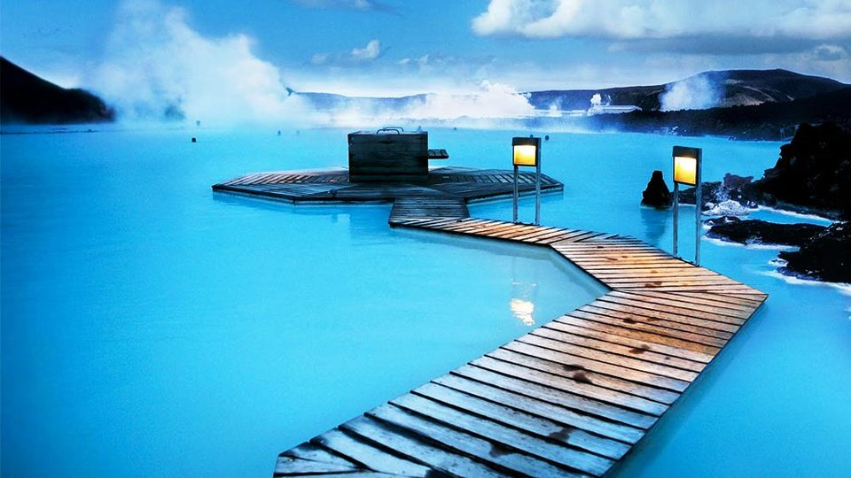 Blue lagoon amidst snow mountains by aanchal karnwal for Hotels near the blue lagoon iceland