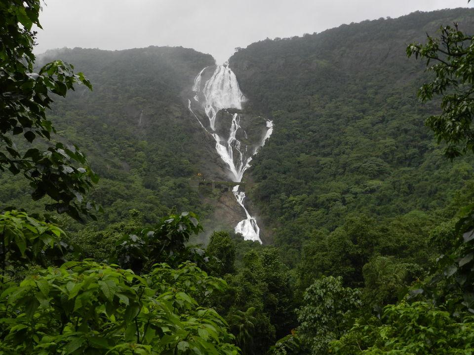 Dudhsagar Falls Way To Waterfall From Railway Station