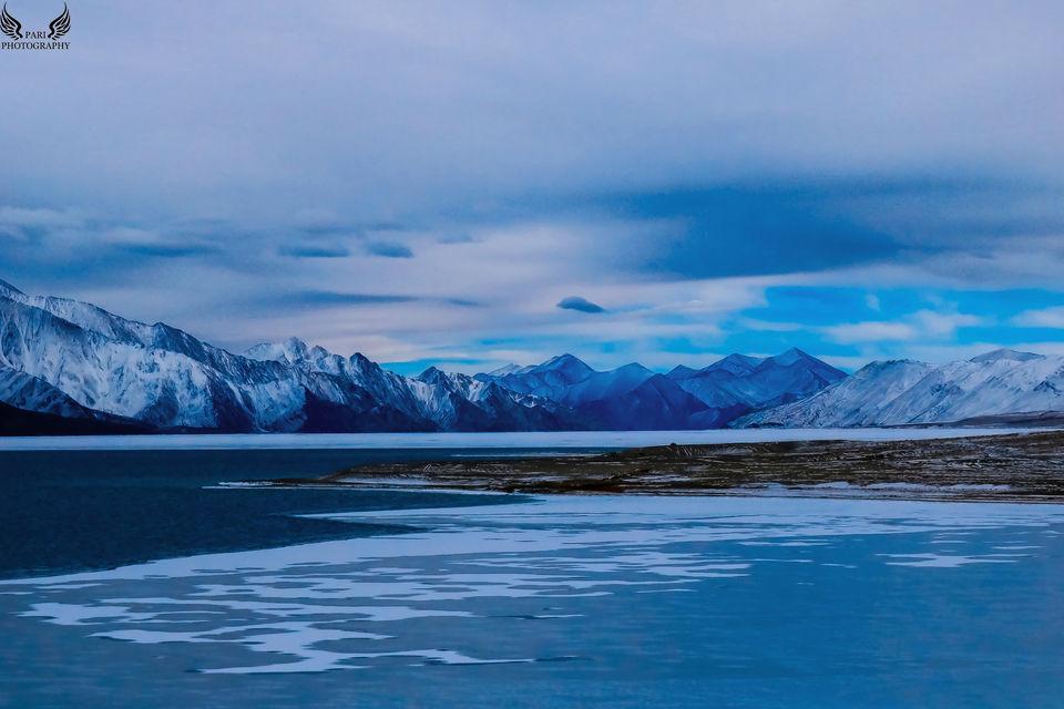 "Photos of <a href=""https://www.instagram.com/rucksackdiaries/"">https://www.instagram.com/rucksackdiaries/</a>Frozen Pangong Lake 1/1 by Mouna Nanaiah"