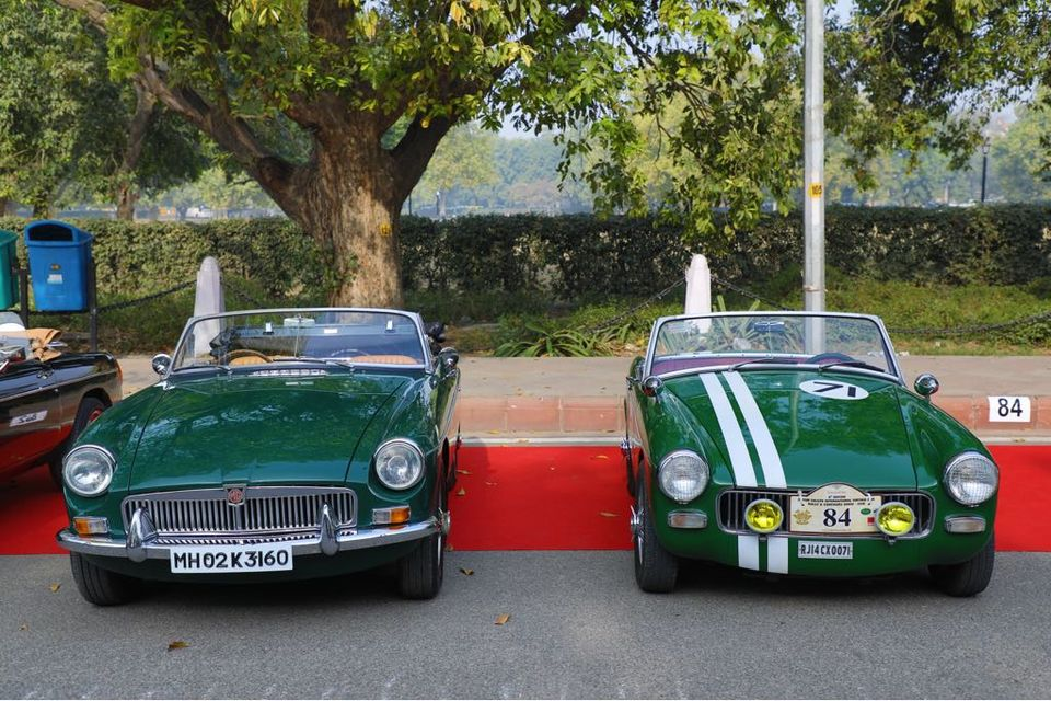 Proud MG Motor Vintage Car Owners Have A Blast In DelhiNCR For A - Classic car motors