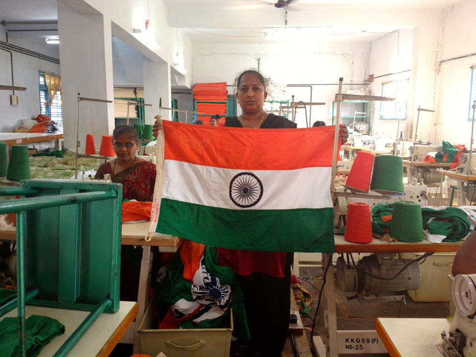 Bengeri ( Hubli) - India's only authorised National Flag production unit
