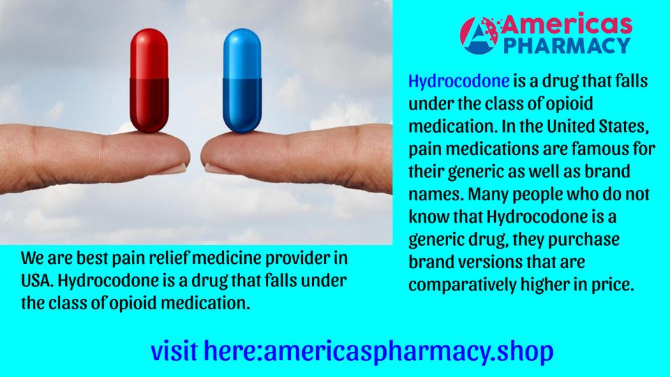 Buy Hydrocodone Online | Generic Acetaminophen Side Effects 1/2 by Americas Pharmacy