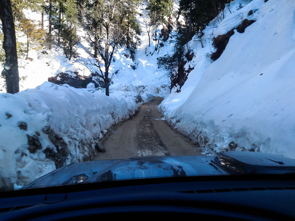 Photo of The snow piled higher as we inched higher by Monidipa Bose