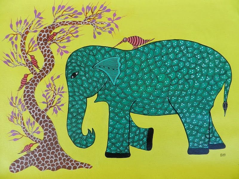 Indian Elephant Painting Tribal Paintings: Top ...