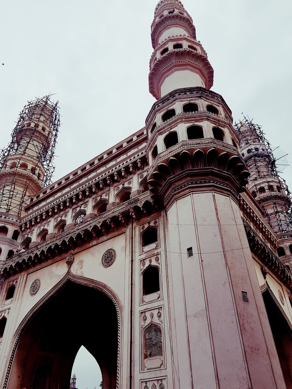 Charminar stands tall in the crowded streets