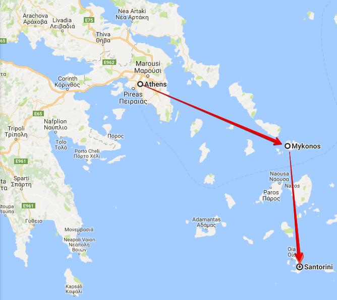 Google Maps Island Athens