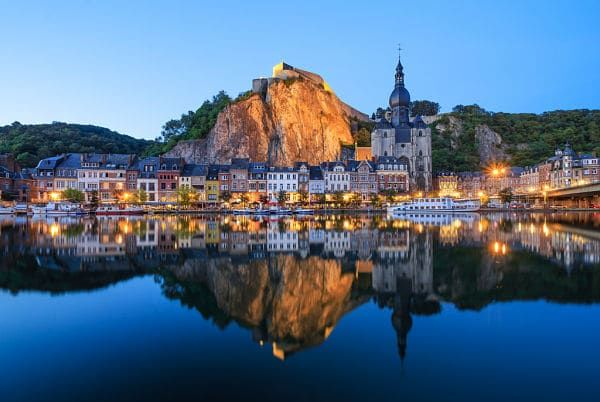 dinant a hidden gem in belgium by the river muese tripoto. Black Bedroom Furniture Sets. Home Design Ideas