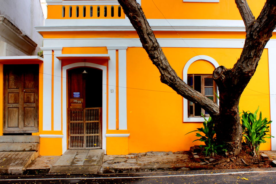All About The Beautifully Colored Walls Of Pondicherry A Photo