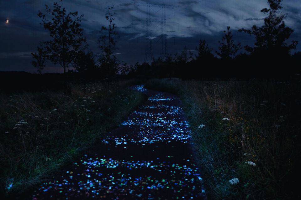 Photo of Van Gogh-Roosegaarde Cycle Path, Eindhoven, Netherlands by Ananya Ghosh