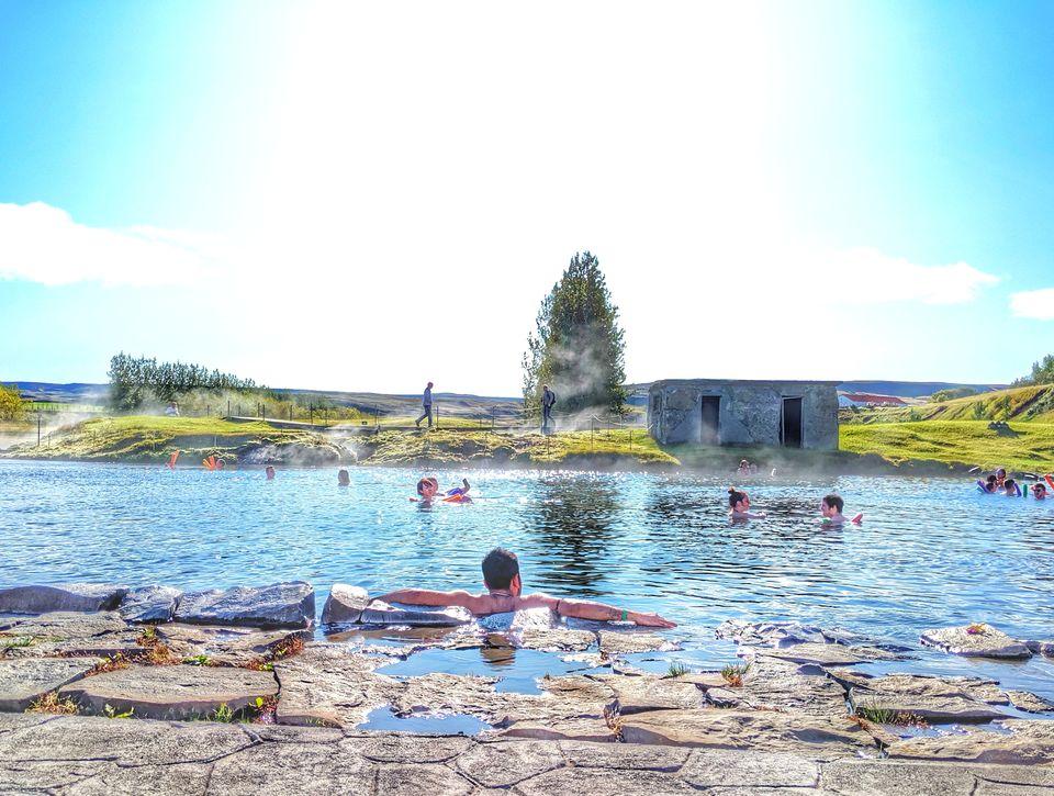 Photo of Secret Lagoon Hot Spring, Hvammsvegur, Flúðir, Iceland by Sudipta Nandy
