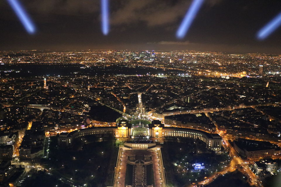 Photo of View from the summit of the Eiffel Tower by Sagarika Mohanty
