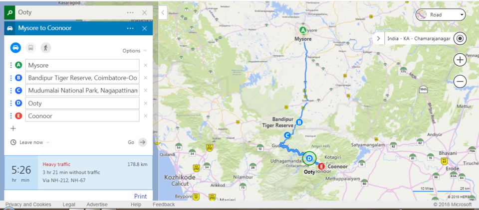 Ooty In India Map.Ooty Conoor Odyssey To Misty Hills Tripoto