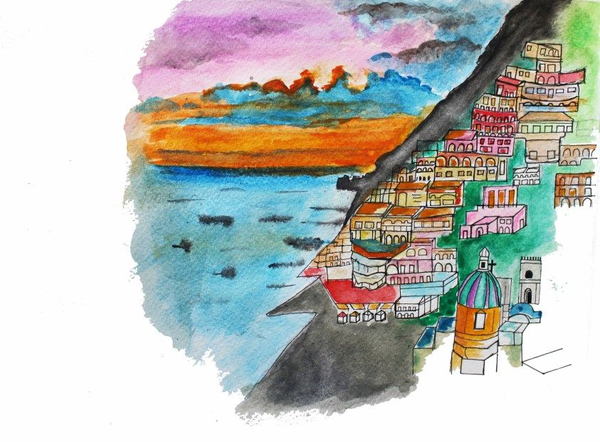 Photos of Italy in Colors: Sketches and Stories 1/4 by Shilpa Balakrishnan