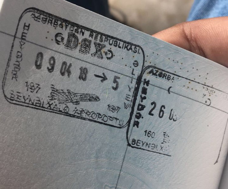 Entry formalities for Indians (aka E-Visa arrival in Azerbaijan)  May 28, 2018