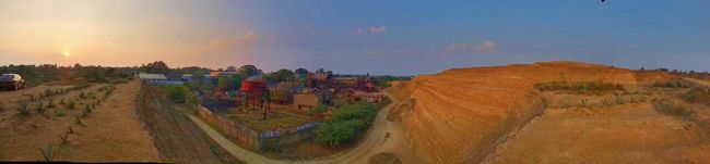 An view from the top of KOLAR GOLD FIELD mines