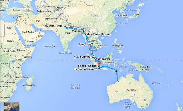 Map Of Australia Japan.India To Australia Without Planes Or Plans Tripoto