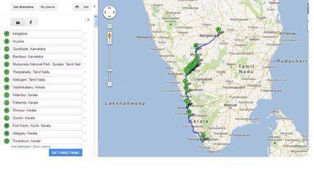 Bike trip - Bangalore to Trivandrum via Mysore