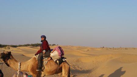 The Thar Trek- in the dunes ,on the camel