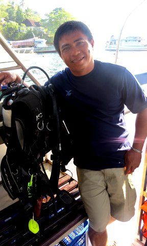 Muck diving in Lembeh Straits, Sulawesi, Indonesia