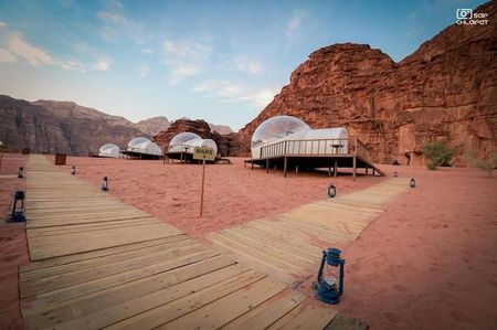 Sleep Under The Stars And Wake Up In A Bubble In The Middle Of This Mountainous Desert