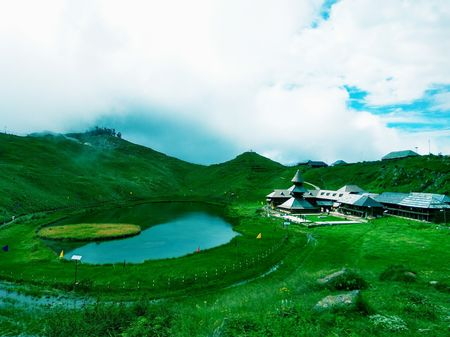 Seasonal contrasts of Prashar lake Mandi