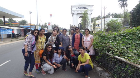 Group of girls at Pondicherry
