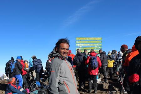 Kilimanjaro conquered with late Malli Mastan Babu (India's fastest seven summiteer)