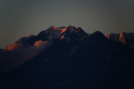 Wake up to the Majestic view of Himalayan peaks from Ojaswi Tea garden Resort