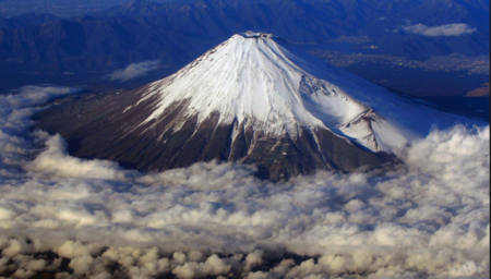 An exploration of the Japanese dormant volcano - Mount Fuji