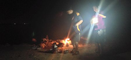 Night crabbing and BBQ at Simaisma Beach, Qatar